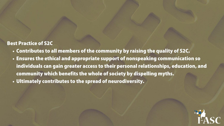 S2C, Spelling to Communicate, nonspeaking, nonspeakers, Autism, I-ASC, Speller, nonverbal, RPM, books, nonspeaking books, books for nonspeakers